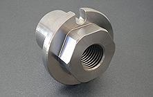 Steel threaded component